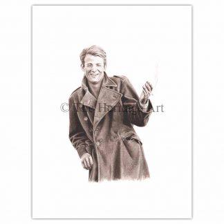 Mann mit Mantel